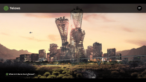 A rendering of Telosa, an all-new city to be built from the ground up in one of America's desert regions