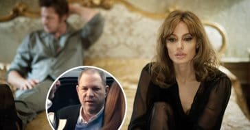 Angelina Jolie fought with Brad Pitt over working with Harvey Weinstein