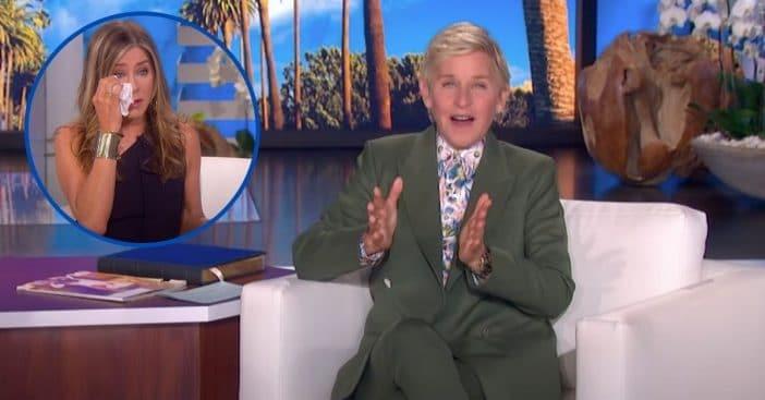 Jennifer Aniston Gets Teary-Eyed And Emotional In Sneak Peek Of Ellen's Farewell Season