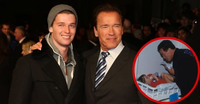 Patrick and his father Arnold Schwarzenegger