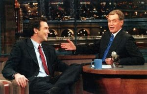 LATE SHOW WITH DAVID LETTERMAN, from left: Norm MacDonald, David Letterman