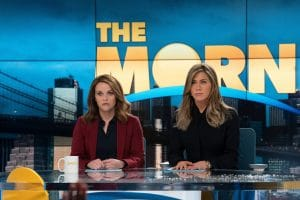 THE MORNING SHOW, from left: Reese Witherspoon, Jennifer Aniston