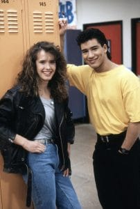 SAVED BY THE BELL, from left: Leann Creel, Mario Lopez