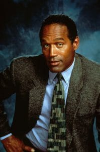 The O. J. Simpson murder trial was a widely discussed topic on American TVs