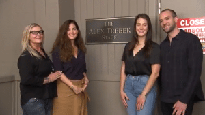 Trebek's wife Jean, son Matt, and daughters Emily and Nicky