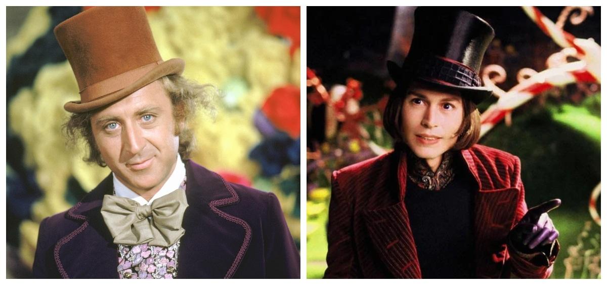 Gene Wilder, Johnny Depp as Willy Wonka
