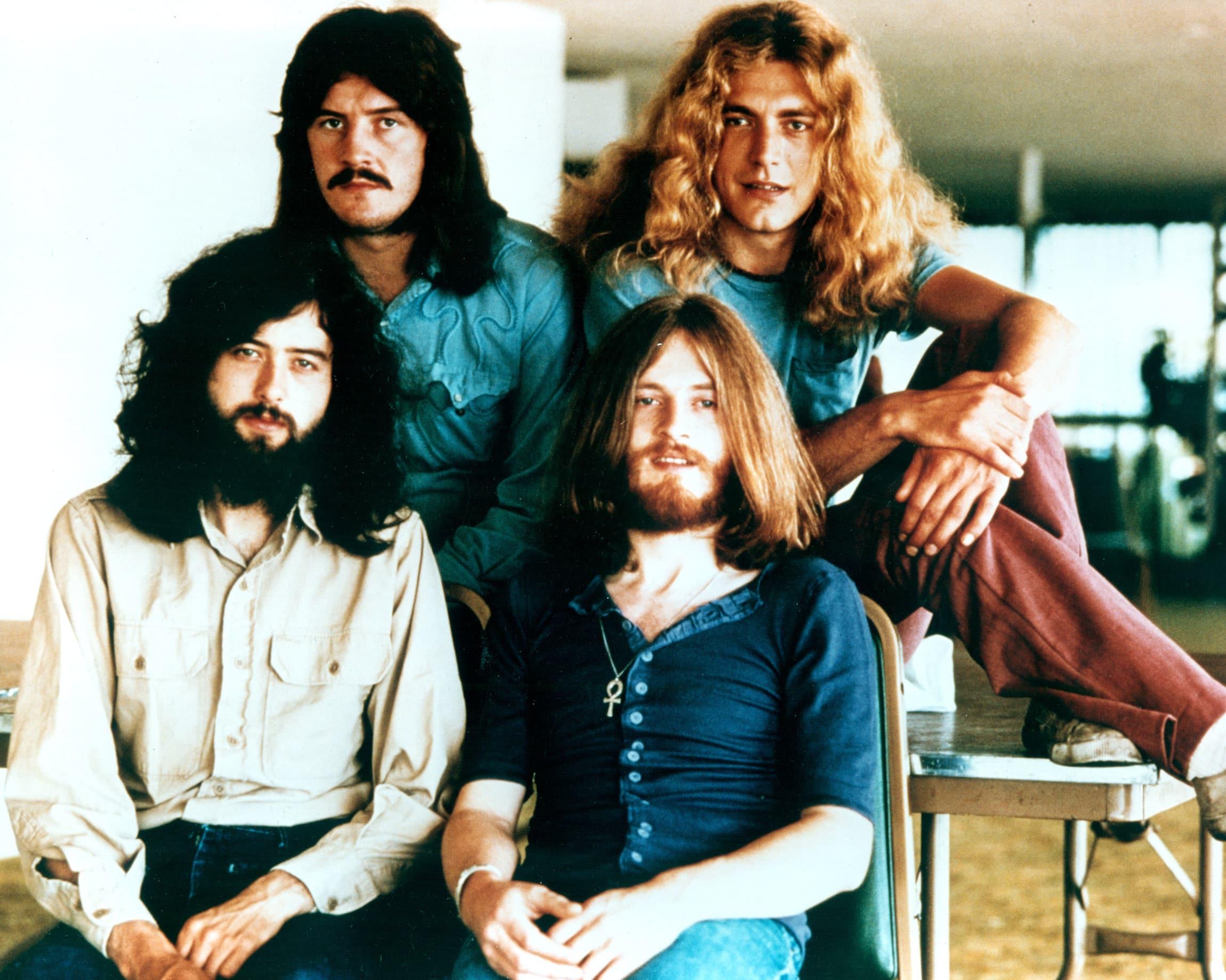 Led Zeppelin, promotional portrait for their 1973 US Tour