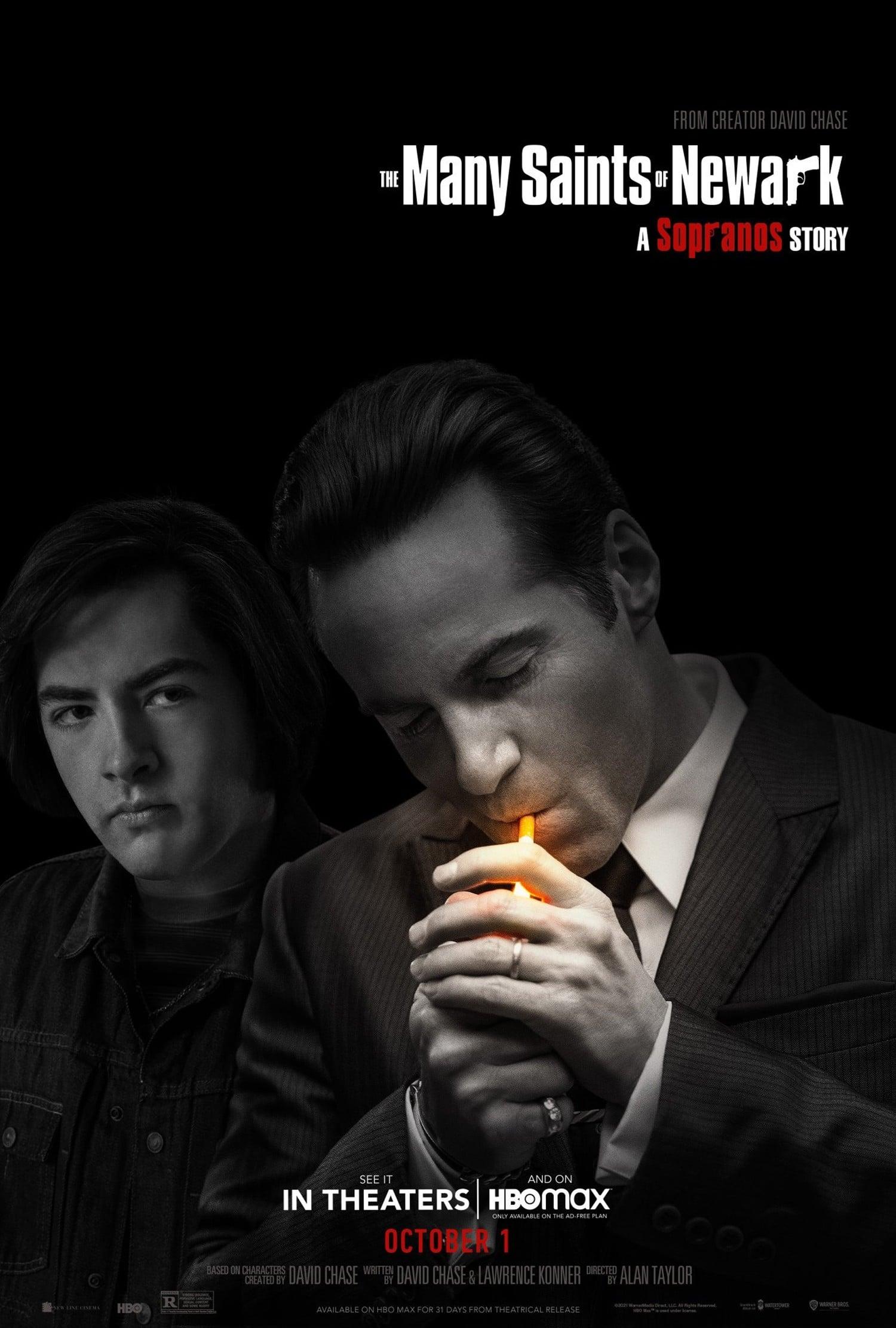 THE MANY SAINTS OF NEWARK, US poster, from left: Michael Gandolfini, Alessandro Nivola, 2021