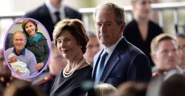 Laura and George W. Bush welcome Cora Georgia Coyne