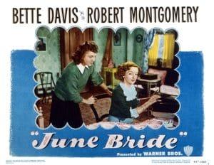 JUNE BRIDE, US lobbycard, from left: Betty Lynn, Bette Davis