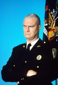 Richard Moll as the beloved, bold, bald Bailiff Bull Shannon