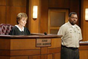 JUDGE JUDY, Judge Judy Sheindlin, bailiff Petri Hawkins-Byrd