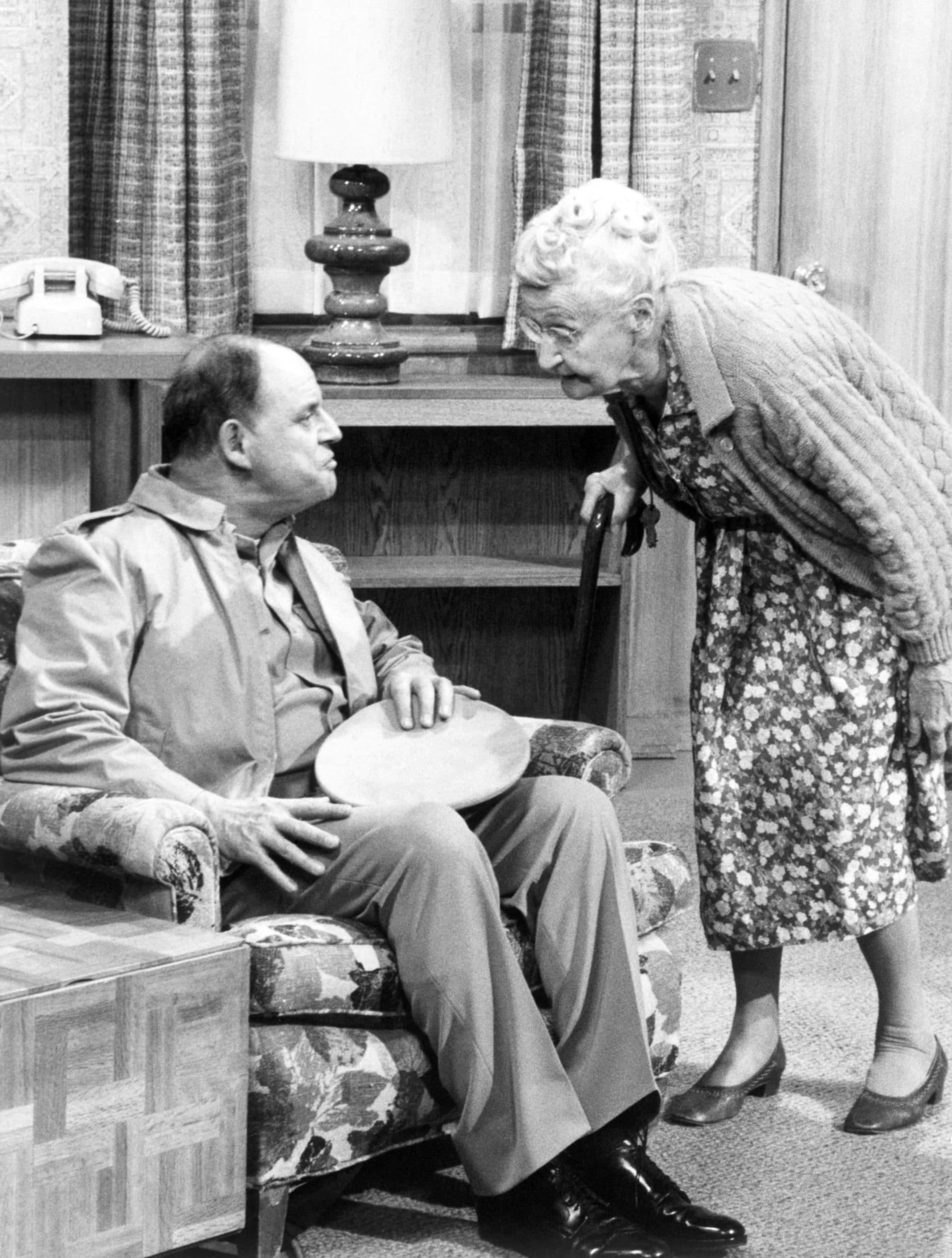 C.P.O. SHARKEY, from left: Don Rickles, Merie Earle in 'Sharkey Finds Peace and Quiet' (Season 1, Episode 11, aired March 2, 1977), 1976-78