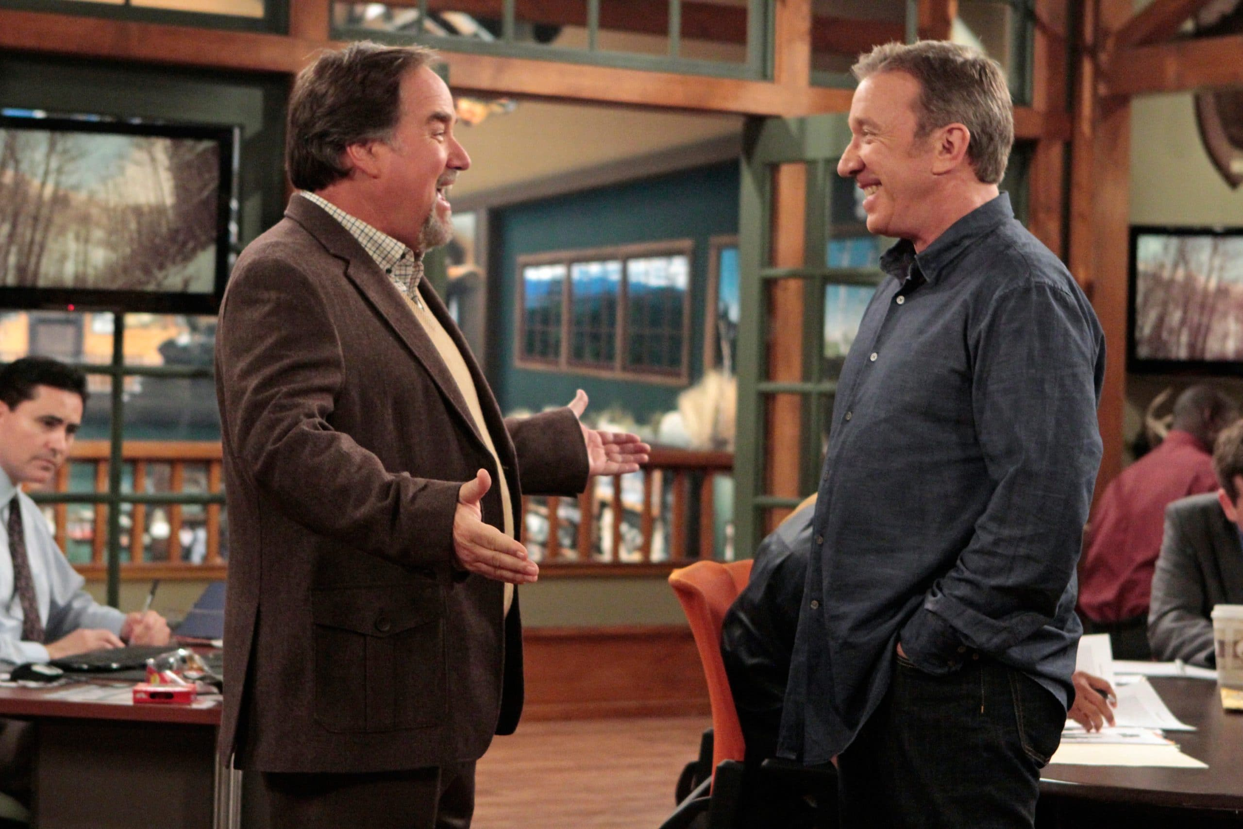 LAST MAN STANDING, l-r: Richard Karn, Tim Allen in 'Attractive Architect' (Season 2, Episode 9, aired January 11, 2013), 2011